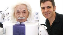 Dr. David Hanson and Albert Einstein