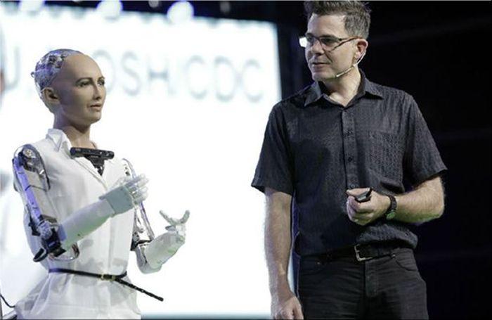 De robot Sophia